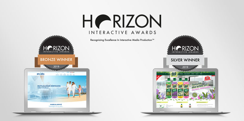Horizon Interactive Awards'tan 2 ödülle döndük!